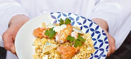 Poêlée de langoustines et risotto de céréales