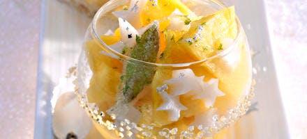 Ananas & étoiles au lait d'amande