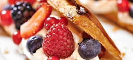Feuilletés aux fruits rouges