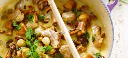 Mijoté de veau aux champignons