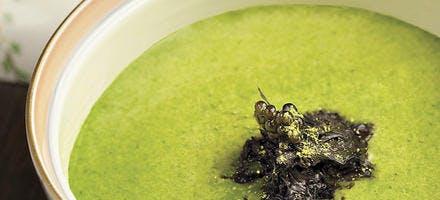 Soupe aux épinards et brie de Melun