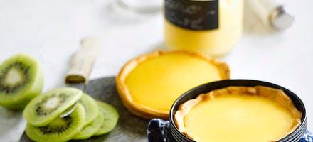 Tartelettes au lemon curd et au kiwi