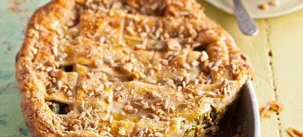 Pie aux asperges et champignons de Philippe Conticini