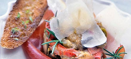 Ratatouille et jambon basque aux copeaux d'ossau-iraty
