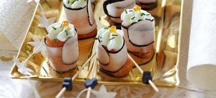 Bouchées de saumon en habits de radis