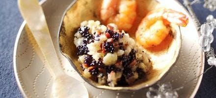 Caviar de choufleur aux oeufs de poisson