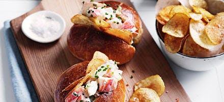 Sandwichs briochés au homard - Loster roll