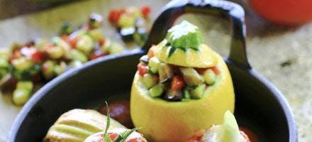 Petits farcis de légumes provencaux et coulis de tomate
