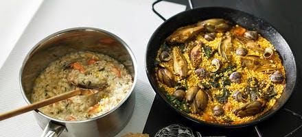 Paella aux petits-gris