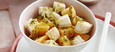 Salade de melon et chèvre