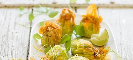 Tempura de fleurs de courgette
