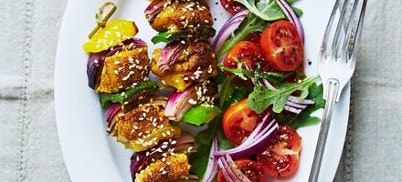 Brochettes de poulet au curry