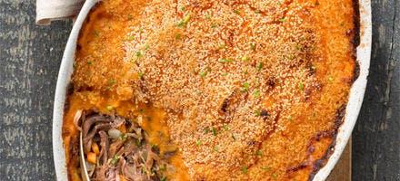 Parmentier de canard à la patate douce