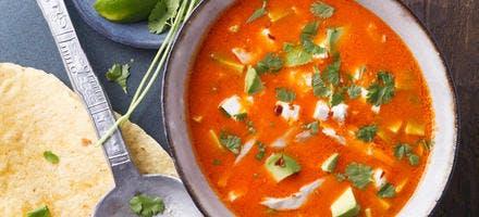 Soupe aztèque au poulet