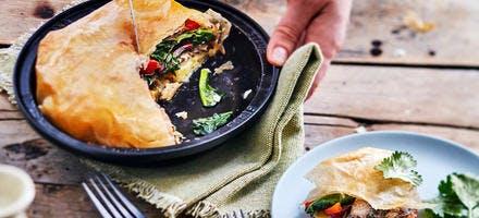 Pastilla de blettes et sardines au citron confit