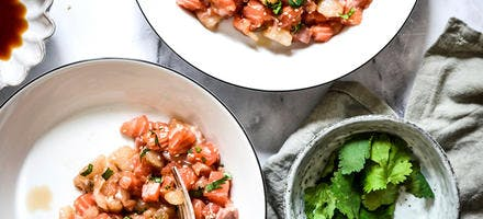 Tartare saumon cabillaud