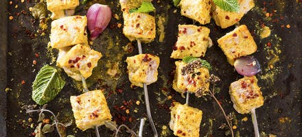 Brochettes d'espadon au curry