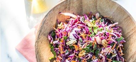 Salade de chou rouge à l'huile d'olive