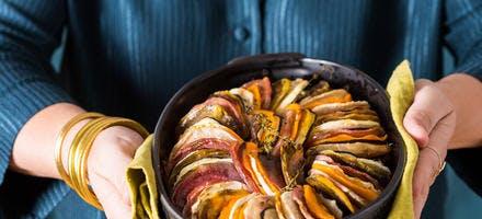 Tian de fête aux légumes d'hiver