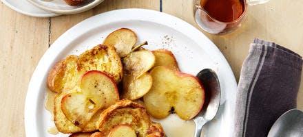 Brioche perdue à la pomme et au sirop d'érable