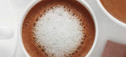 Chocolat chaud à la cuillère