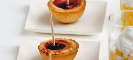 Mini-tartelettes aux griottes