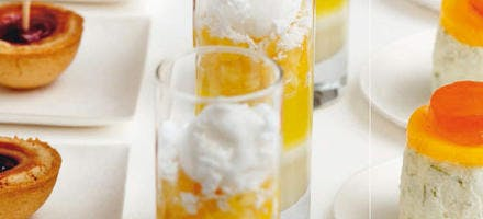 Verrines ananas-coco au chocolat blanc