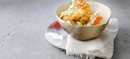 Salade d'écrevisses à l'aneth