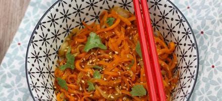 Spaghetti de carottes au gingembre