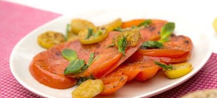 Tomates et citron confit