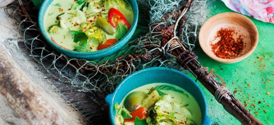 Curry vert aux légumes