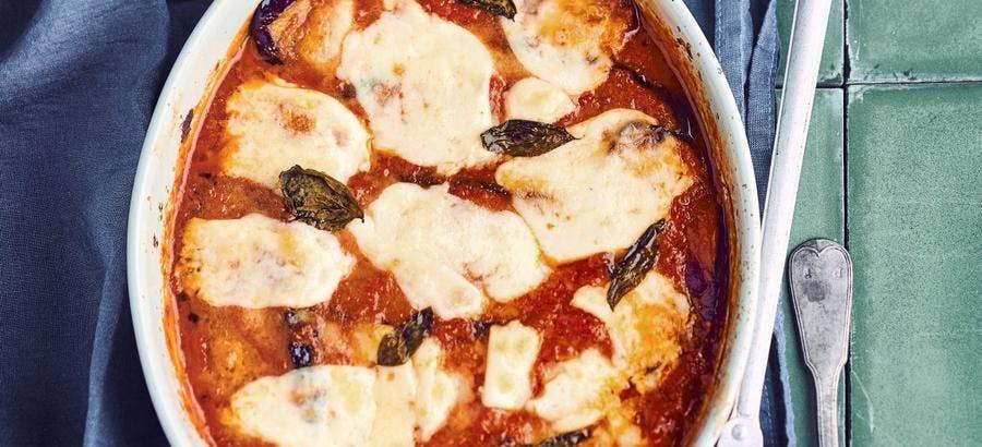 Aubergines et tomates à la parmesane