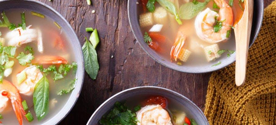 Soupe thaï Tom Yam Koung