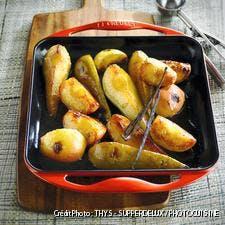 Poires et pommes caramélisées à la vanille