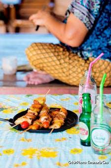 Brochettes de porc à l'ananas