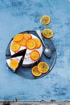 Gâteau aux clémentines confites