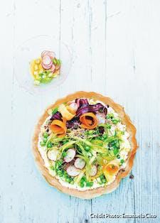 Tarte croustillante aux légumes de printemps