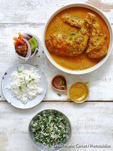 Curry de poulet et riz