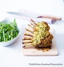 Carré d'agneau en croûte de persil et de moutarde