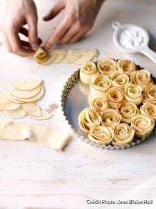 Tarte bouquet aux pommes