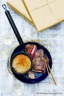 Rôti de boeuf au foie gras