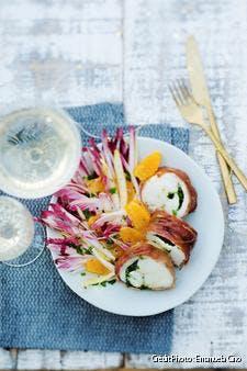 Rôti de lotte aux herbes et salade d'endives et de clémentines