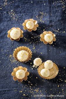 Truffes de pâte d'amande au citron