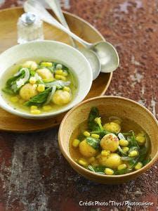 Idée de recette originale et gourmande avec de la polenta.