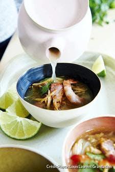 Soupe thaï aux crevettes et gingembre