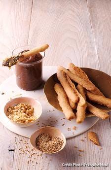 Fingers sablés et pâte à tartiner