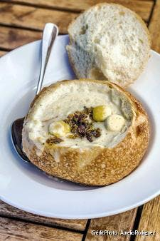 Pacific clam chowder