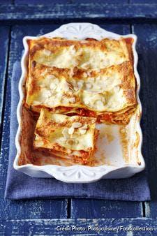 Lasagnes bolognaise aux courgettes et amandes