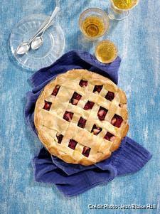 Tourte pommes - framboises et cranberries