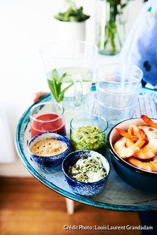 Sauces pour crevettes et fruits de mer